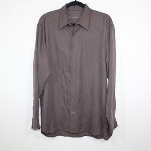 Tommy Bahama Mens M Casual L Sleeve Shirt Brown